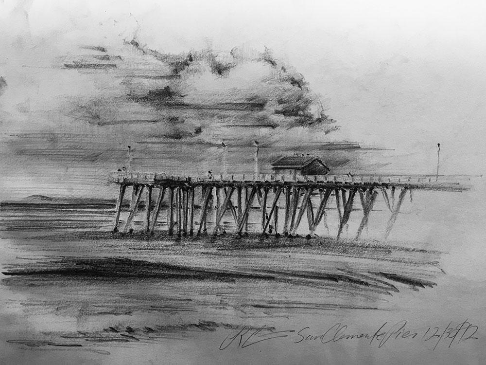San-clemente-pier-sketch